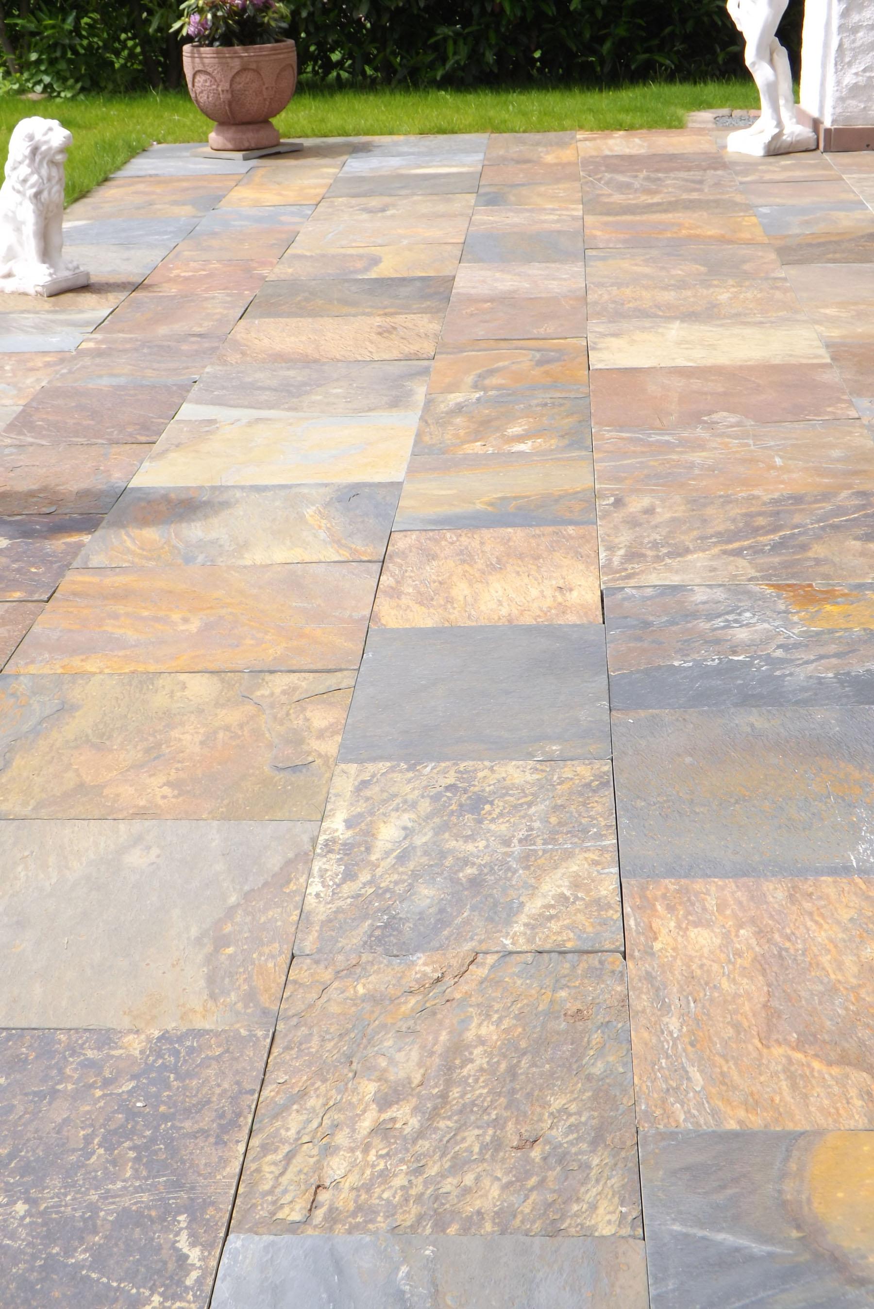 Schiefer Rusty Backes - Leichte terrassenplatten