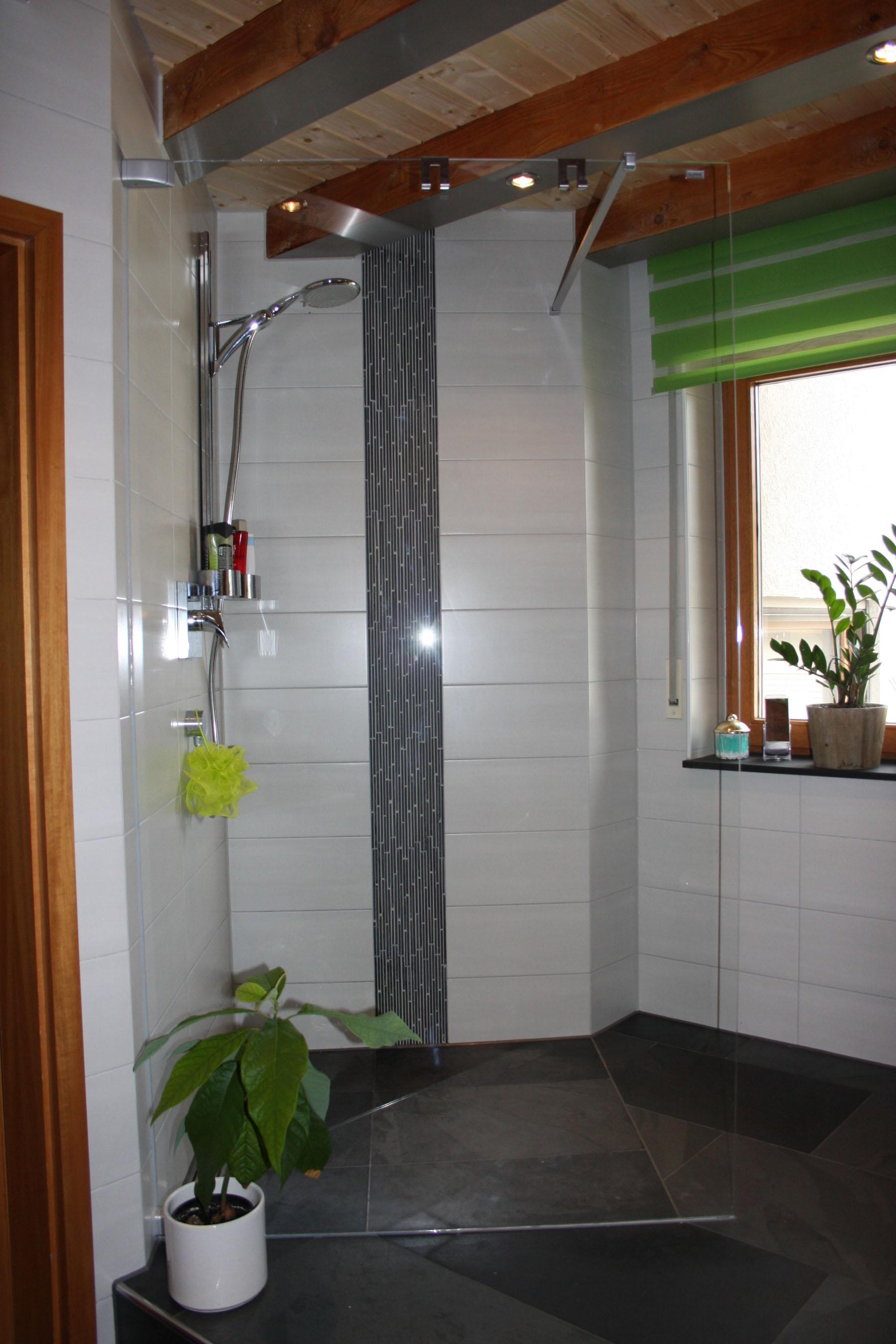 Badgestaltung Mit Schiefer Stäbchen Schwarz
