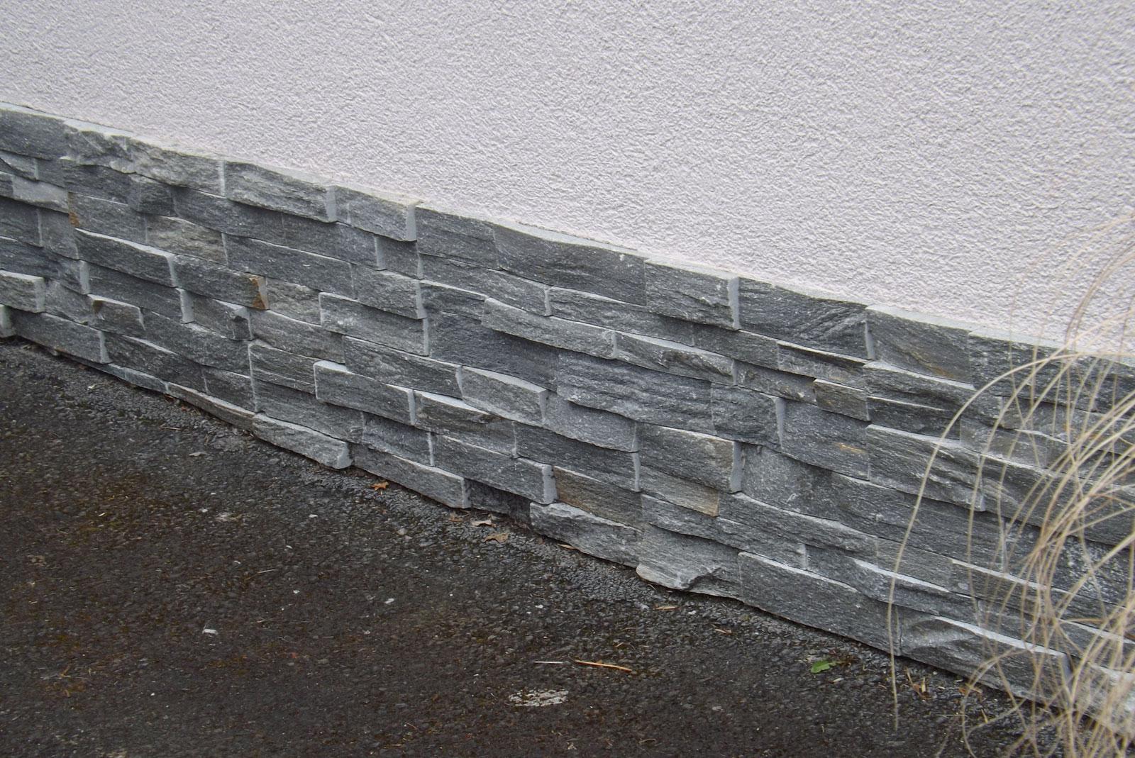 GRAU Sockelverblender Haussockel Steine Sockelriemchen Wandverblender
